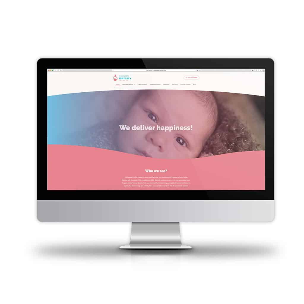 Website Design Branding for small business Assisted Fertility Program New website computer