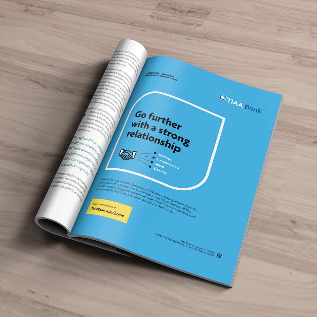 graphic design company TIAA Bank Ad modern logo designer redesign a logo